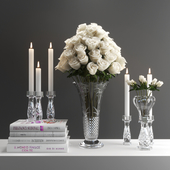 set1225 -candle and roses