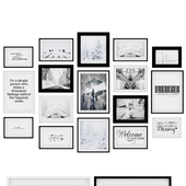 Photo Frame Set 18 (17 Frame Wall Collection)