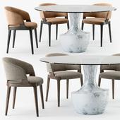 Potocco Velis armchair Anfora table