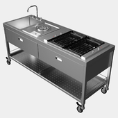 Mobile kitchen ALPES-INOX