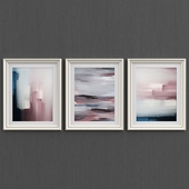 Set of abstraction wall art