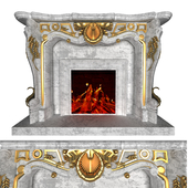 Fire Place Classic Gold