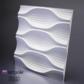 Plaster 3D panel BLADE by Artpole
