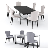 Table Jacques and chair You by Flexform