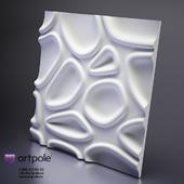 Gypsum 3d panel CAPSUL by Artpole