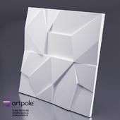 Gypsum 3d panel ROCK from Artpole