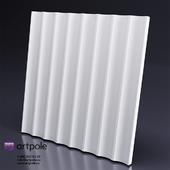 Gypsum 3d panel AFINA from Artpole