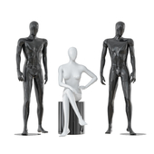 Two male and one female faceless mannequins 30