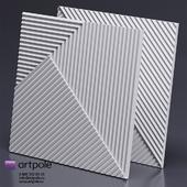 Gypsum 3d FIELDS panel from Artpole