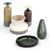 ceramic vases Stromboli by Natuzzi