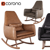 CB2 Saic Quantam leather rocking chair