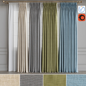 A set of curtains 14