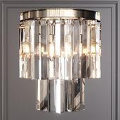 Restoration Hardware 1920S ODEON CLEAR GLASS FRINGE SCONCE Nickel