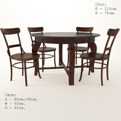 Viennese table and chairs