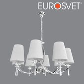 OM Suspended chandelier with lampshades Eurosvet 60079/8 Valery