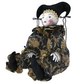 Venetian porcelain doll Harlequin
