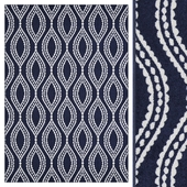 Carpet Mainstays Easton Dotted Ogee Area Rug