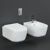 Antoniolupi Komodo Wall-Hung WC and bidet