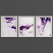 Set of pink abstract