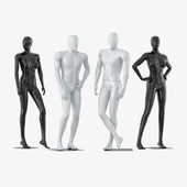 Four faceless mannequins two male and two female 33