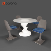 Roche Bobois | SISMIC DINING SET | ARUM CHAIRS