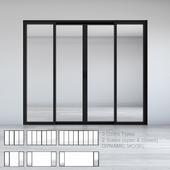 Dynamic Sliding Doors Set 02