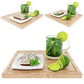 Green tea & poppyseed cake
