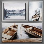 Набор картин с лодками