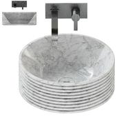 Antonio Lupi Introverso 45 Washbasin / Bikappa BK200 Sink Mixer.