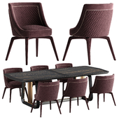 Vittoria Frigerio Perla chair Arquis table set