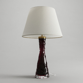 Red & Clear Glass Table Lamp by Carl Fagerlund