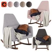 CB2 Saic Quantam rocking chair
