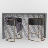 Calvin Bar Stool with concrete table
