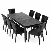 Hermitage Dining Table and Mimi Quilted Chair