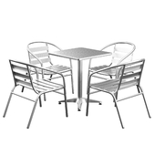 Cornette 5 Piece Square Patio Seating Group