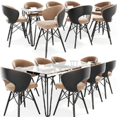 Oslo Eight Seater Dining Table Chair Set