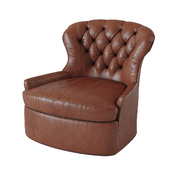 Cardiff Leather Swivel Armchair