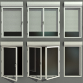 Swing stained glass windows with roller shutters