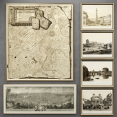 Set of engravings with views of Rome | one