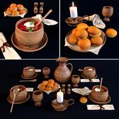 Сервировка стола в средневековом стиле.