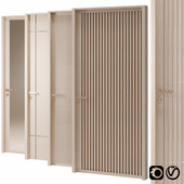 Modern wood doors with gold