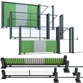 Раздвижные ворота, калитка для стройки, участка
