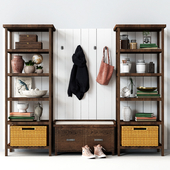 Hall of Pottery Barn MATEO 3-PIECE ENTRYWAY SET