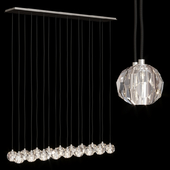 Restoration Hardware BOULE DE CRISTAL LINEAR CLUSTER CHANDELIER 60 Nickel