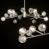 Restoration Hardware BOULE DE CRISTAL ROUND CHANDELIER 48 Nickel