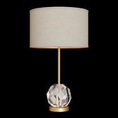 Restoration Hardware BOULE DE CRISTAL TABLE LAMP Brass