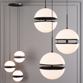 Restoration Hardware HEMISPHERE 3-LIGHT ROUND CHANDELIER Black