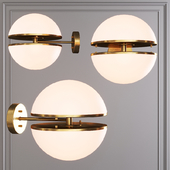 Restoration Hardware HEMISPHERE WALL LAMP SCONE Brass