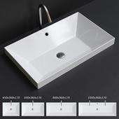 Scarabeo Ceramiche Teorema 2.0 Built-in Washbasin