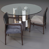Porada: Dining Set (Table - Pilar and Chair - Sveva)